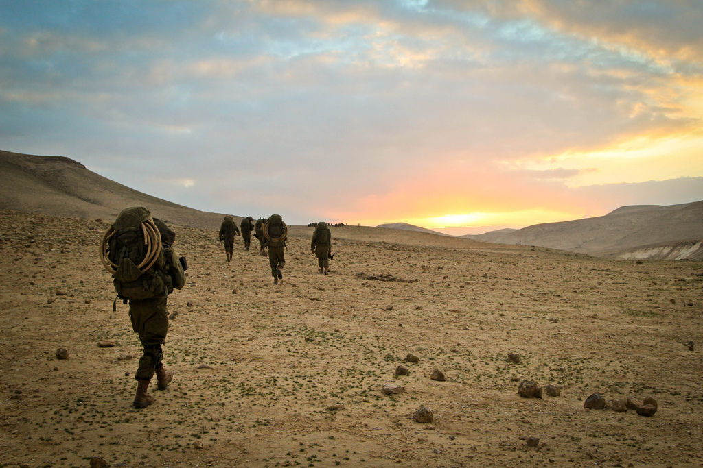 Elite Israeli soldiers training. IDF Photo by Cpl. Zev Marmorstein, IDF Spokesperson's Unit.