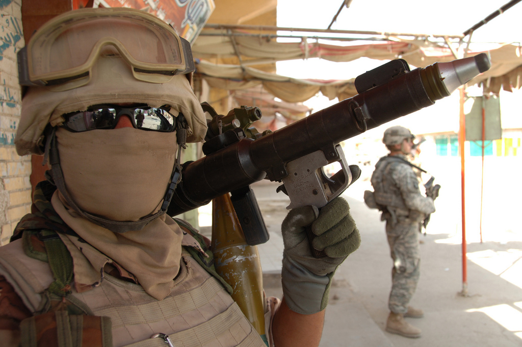 US and Iraqi soldiers, 2008. US Army photo by Spc. Richard Del Vecchio