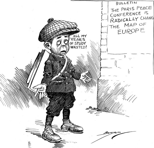 Cartoon by Clifford Berryman, 1919. Via the US National Archives.