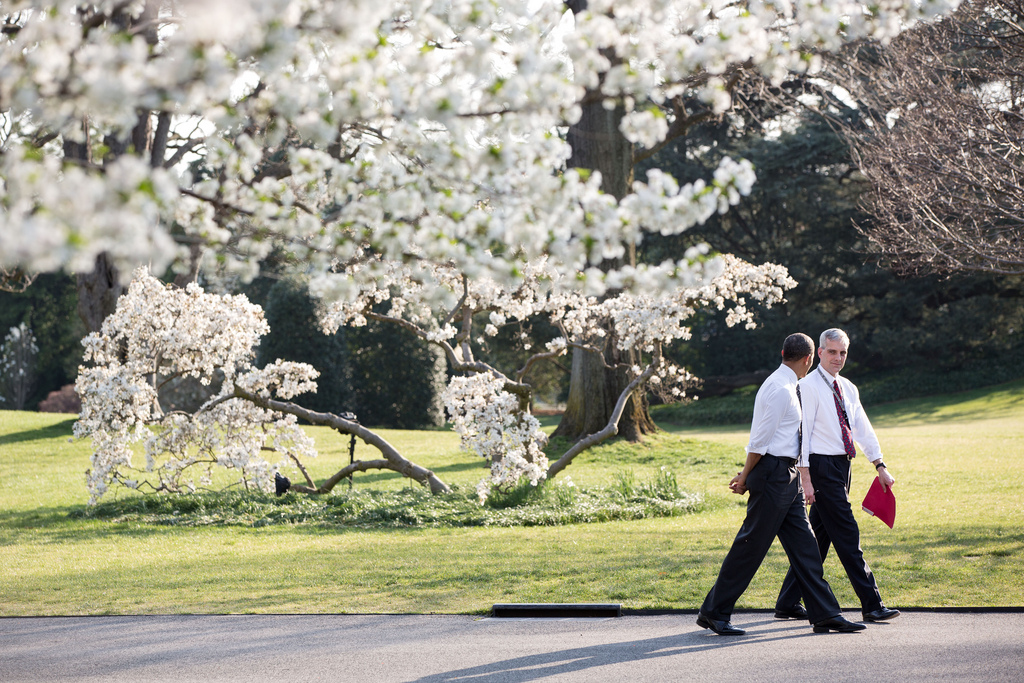 President Barack Obama and Chief of Staff Denis McDonough. Official White House photo by Pete Souza.