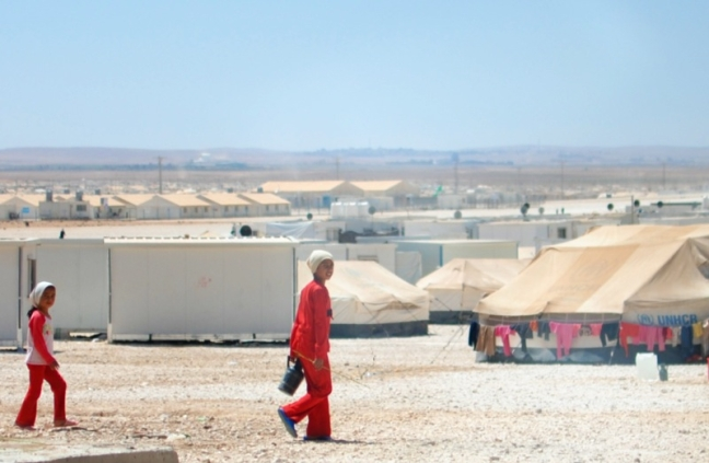 Za'atari Refugee Camp: JORDAN: Many girls in Za'atari do not attend schools, live in female-headed households, and are married off early.