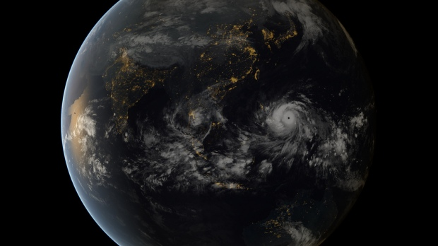 Typhoon Haiyan approaching the Philippines. Copyright 2013 JMA/EUMETSAT, via NASA Goddard Space Flight Center.