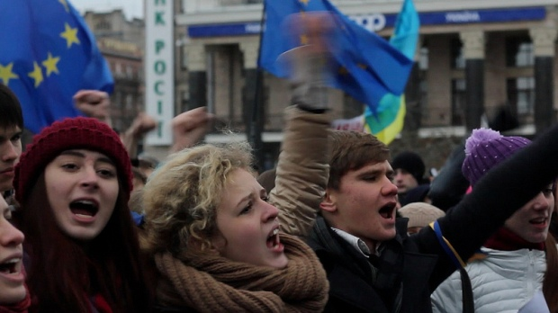 Kiev protests on November 26, 2013. Photo by Flickr user Ryan Anderson.