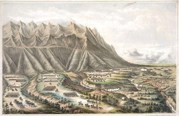 "Henry R. Robinson, ""Battle of Buena Vista."" Via Wikimedia."