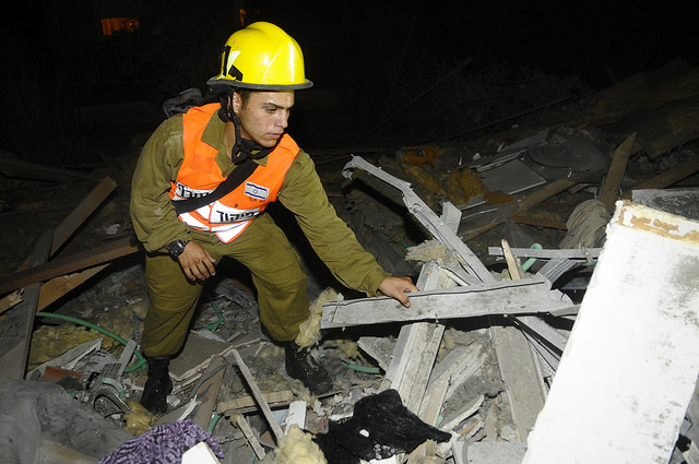 Home destroyed in Beer Sheva by rocket fire. July 11th IDF photo.
