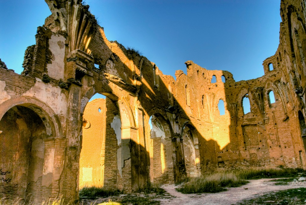 The Spanish village of Belchite was destroyed in the Spanish Civil War, and has been left ruined as  a monument to the conflict. Courtesy of Flickr user Angel.