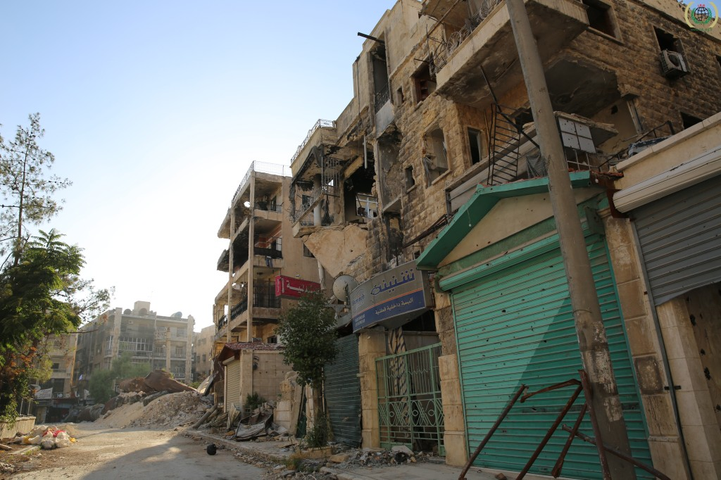 An Aleppo street heavily damaged by fighting. Via the IHH Humanitarian Relief Fund.