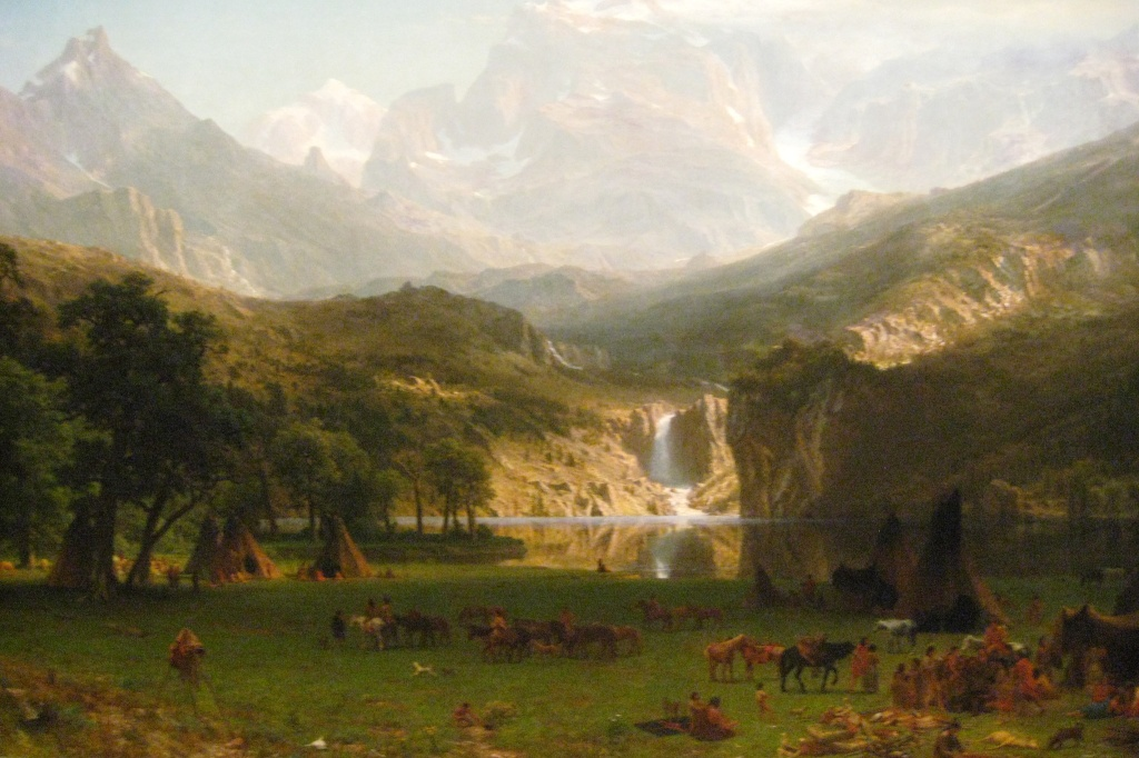 "Albert Bierstadt, ""The Rocky Mountains, Lander's Peak,"" 1863. Via Wally Gobetz."