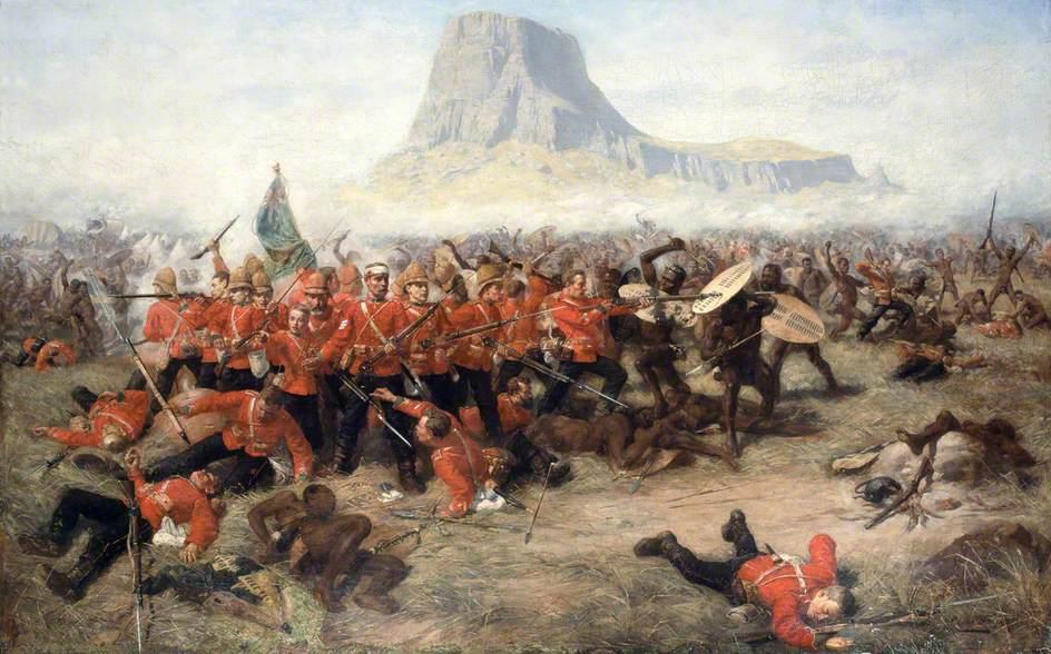 "Charles Edwin Fripp, ""Isandhlwana,"" 1885. Via Wikimedia."