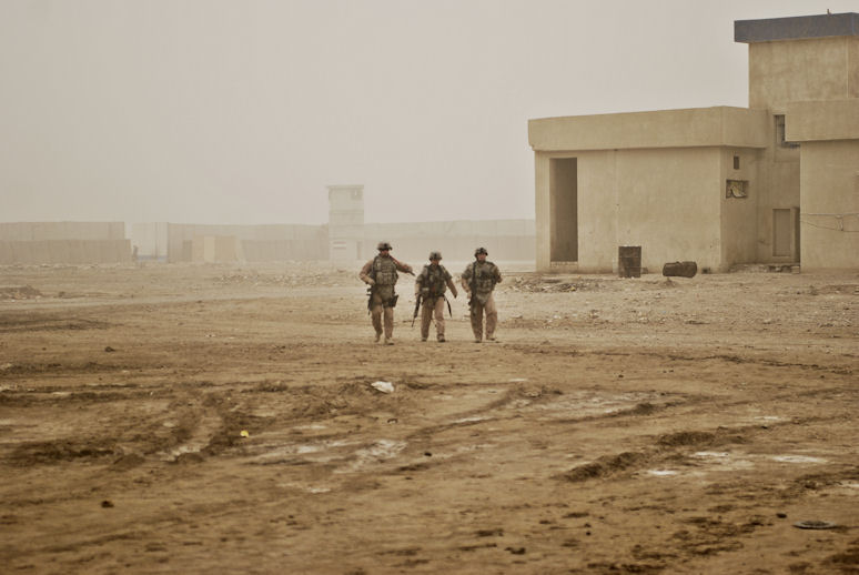 American soldiers in Iraq. By lachicaphoto.