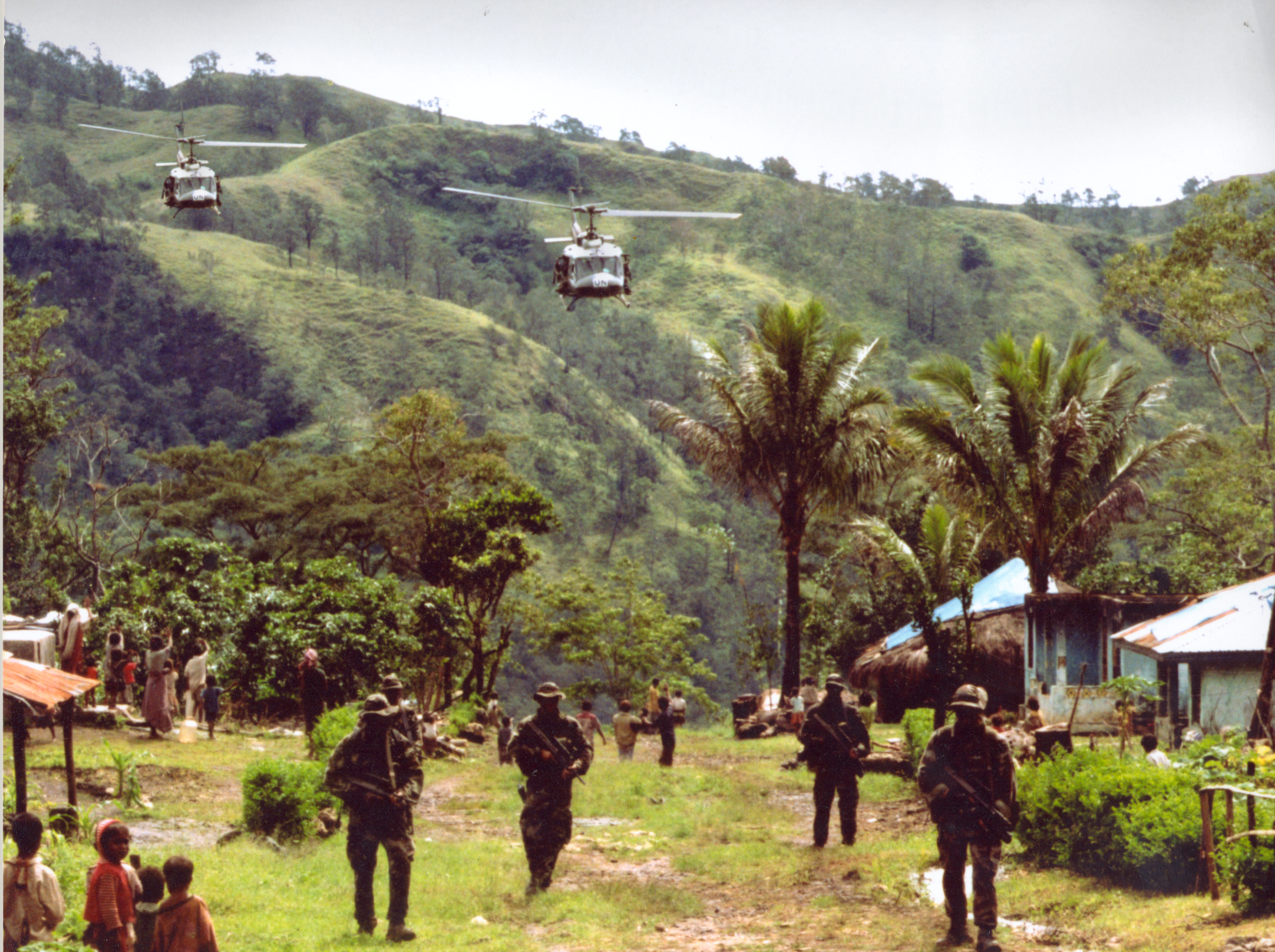 UN peacekeepers in East Timor. By the Irish Defense Forces.