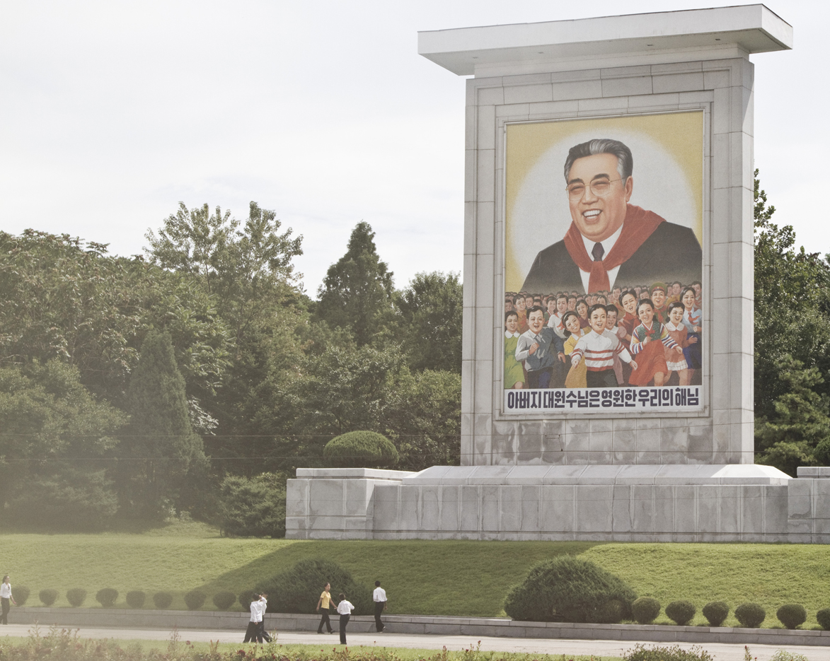 A portrait of Kim Il Sung in Pyongyang. By Gabriel Britto.