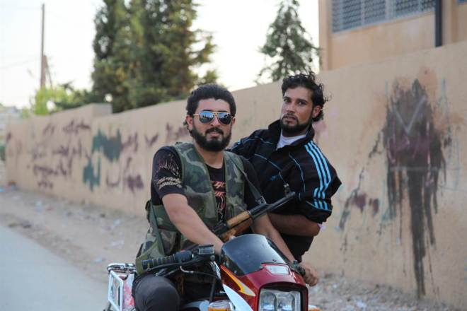 Rebels in northern Syria. Via Syria Freedom.