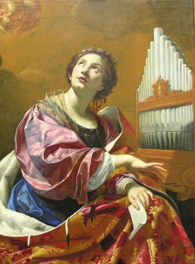 """Simon Vouet, """"St. Cecilia,"""" 1626. Via Ed Uthman."""