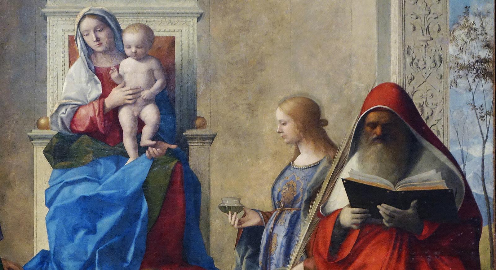 """Giovanni Bellini, """"San Zaccaria Altarpiece,"""" 1505. Via Steven Zucker."""