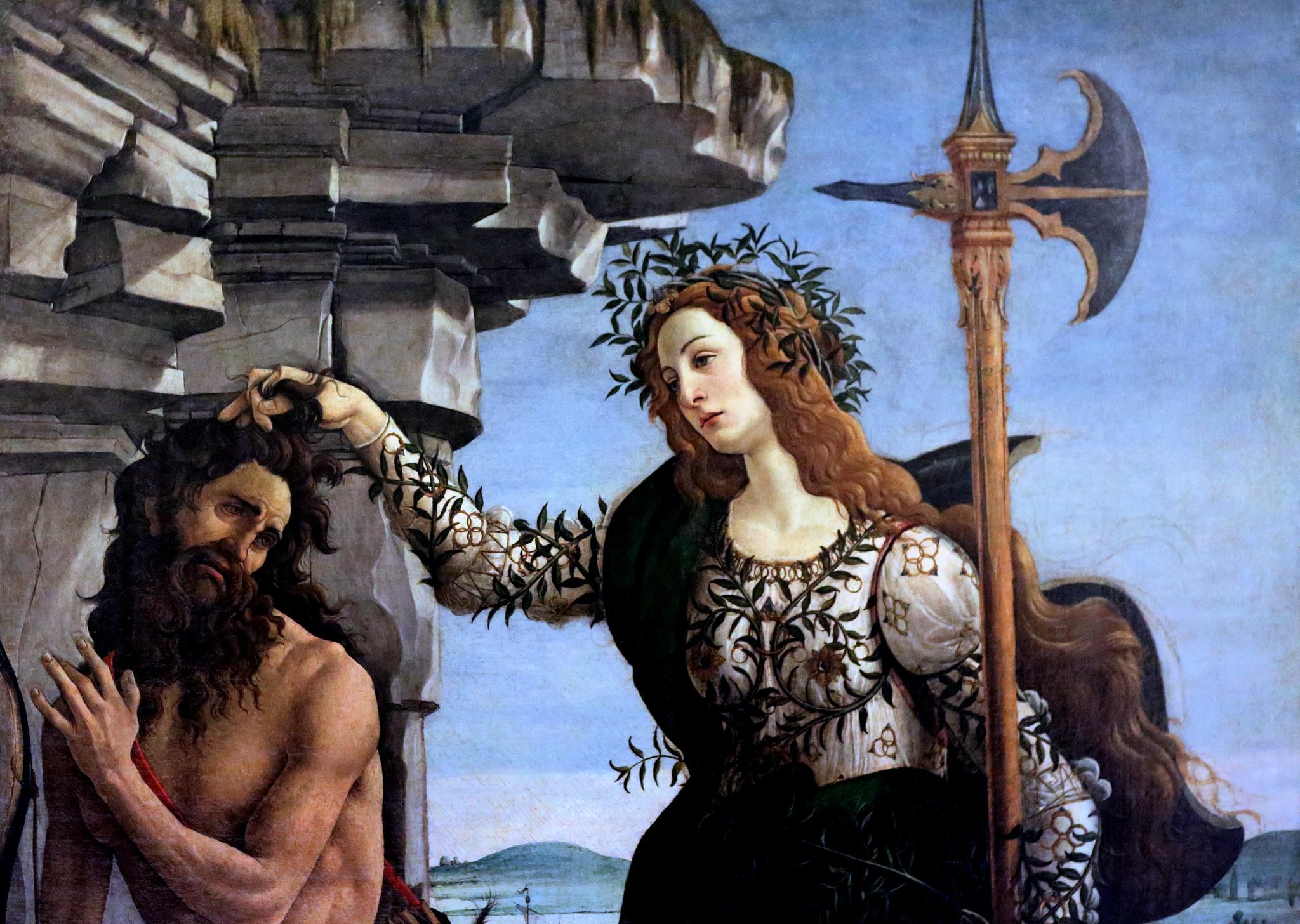"Sandro Botticelli, ""Pallas and the Centaur,"" 1482."