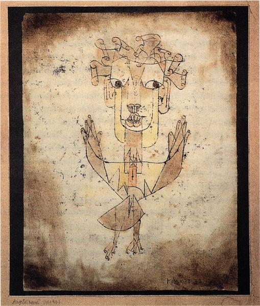 """Paul Klee, """"Angelus Novus,"""" 1920. Via Wikimedia."""