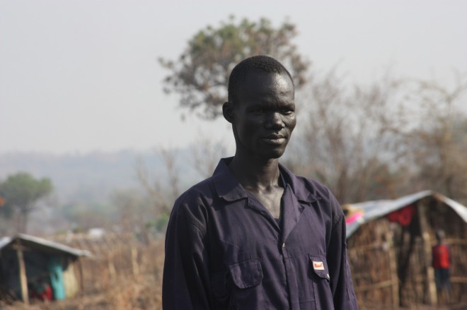 Gabriel, a South Sudanese man, in a refugee camp in Uganda. By European Commissions DG ECHO.