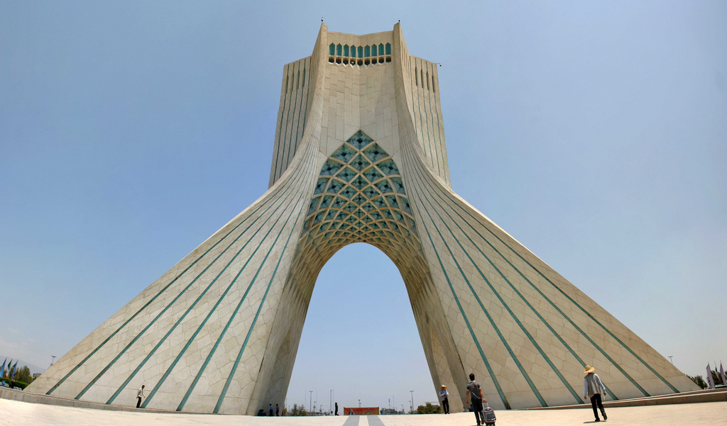 The Azadi Tower in Tehran, Iran. By Christiaan Triebert.
