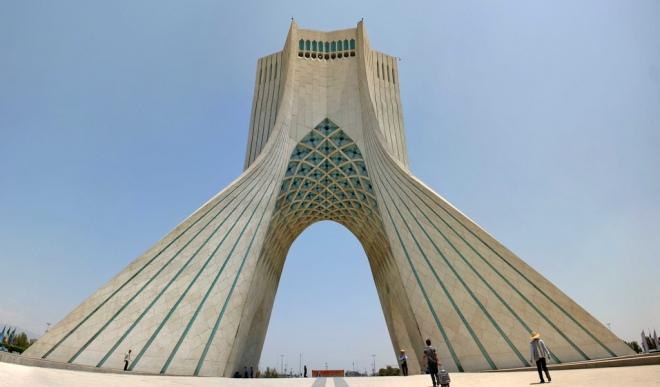 The Azadi Tower in Tehran, Iran. By Christiaan Triebert.