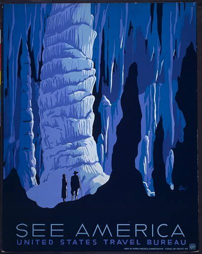"""Alexander Dux, """"See America,"""" 1936. Via the Library of Congress."""