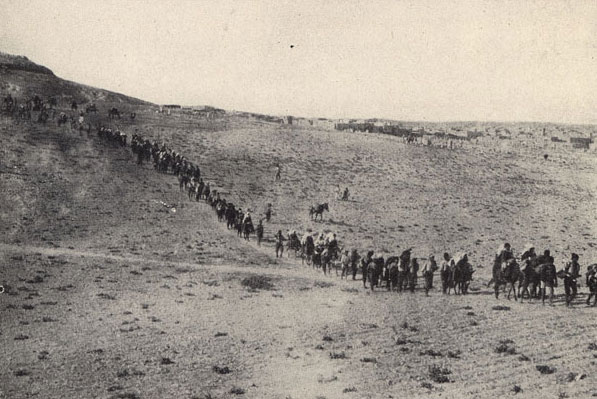 Armenians being deported from Turkey in 1915. By Narek.