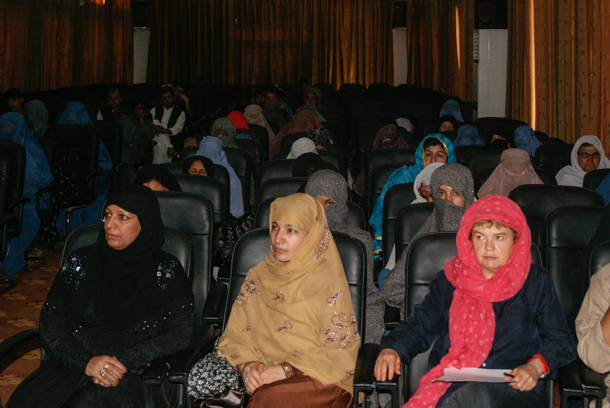 Women attend a shura on voting and running for office in Helmand, Afghanistan. By Helmand PRT Lashkar Gah.