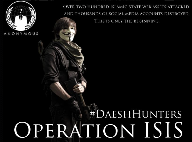 Anonymous advertisement in support of Operation ISIS.  Via Twitter.