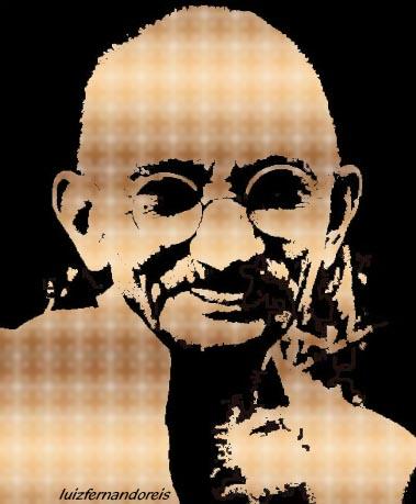 Mahatma Gandhi. By Luiz Fernando Reis.