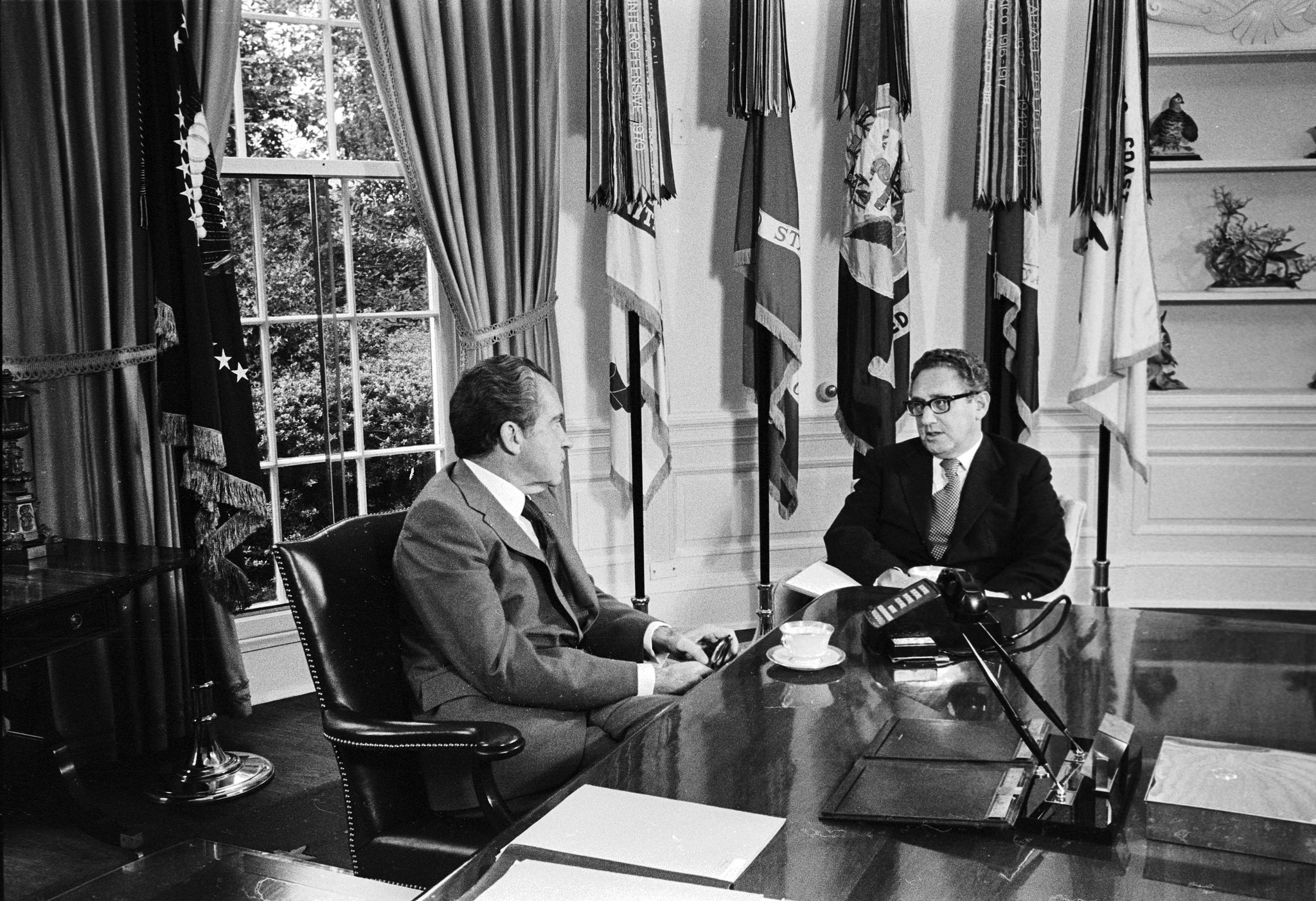 Nixon and Kissinger, 1973. Via the Central Intelligence Agency.