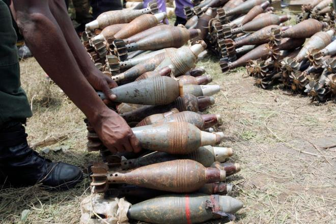 Munitions surrendered by CNDD-FDD forces in 2005. By the United Nations.