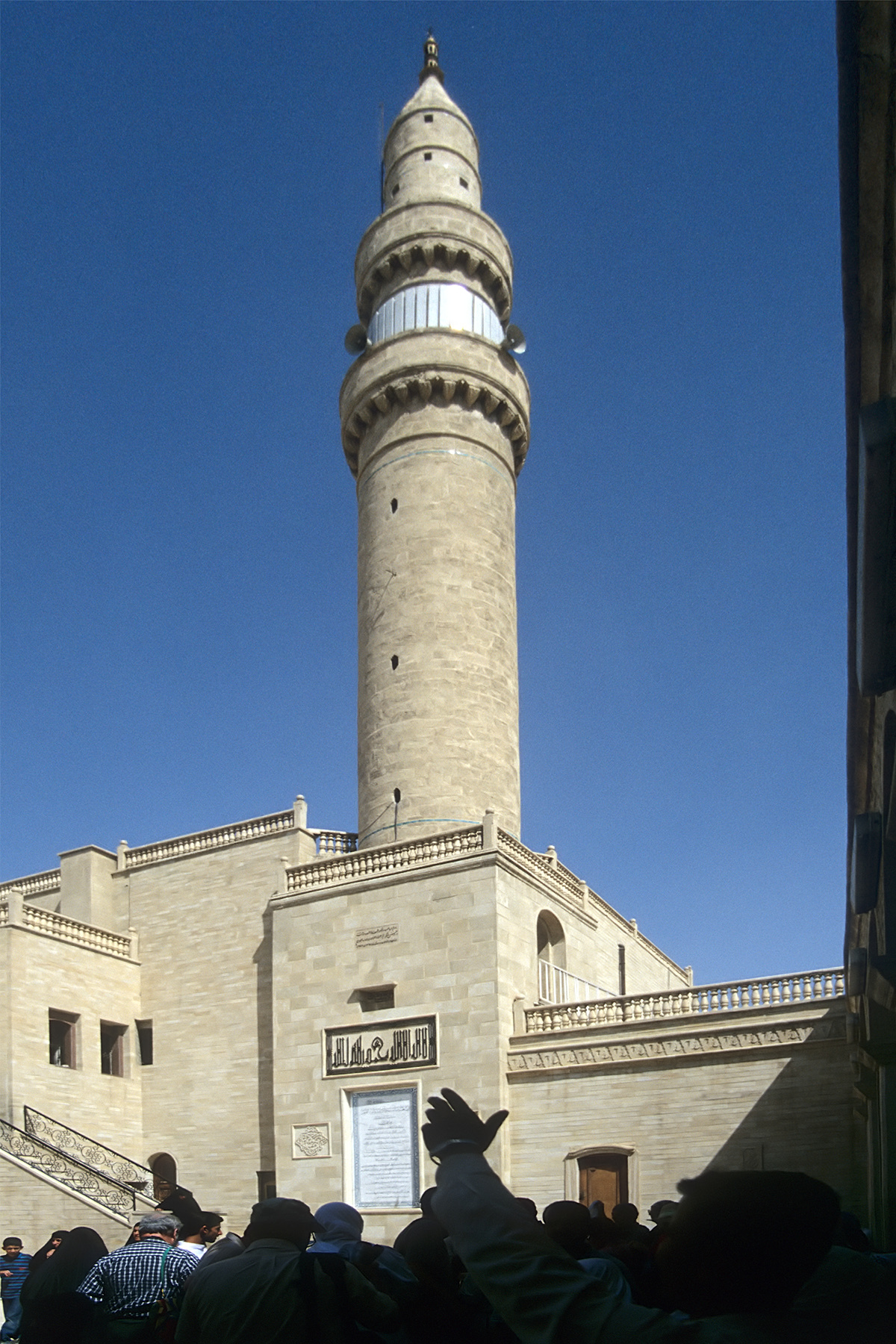 A mosque in Mosul, Iraq dedicated to the biblical figure Jonah that ISIS destroyed, prompting protests from the local population. Via wikimedia.