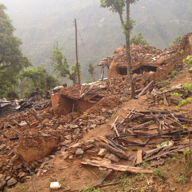 Devastation in Rasuwa District of Nepal from the April 25th, 2015 earthquake.  By Subindra Bogati.