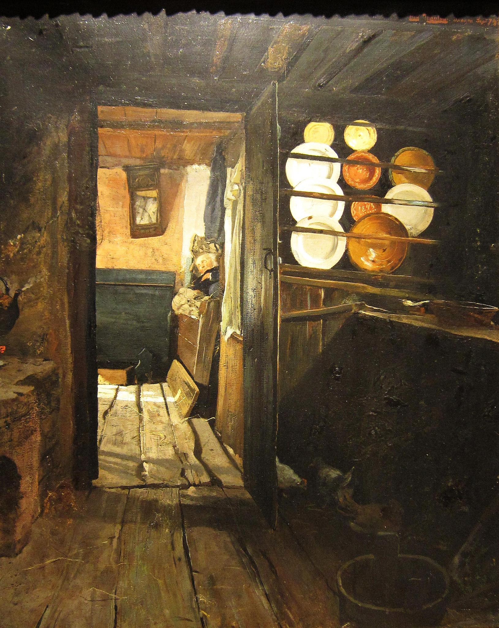"""Frits Thaulow, """"Kitchen Interior,"""" 1890. Via Bosc d'Anjou."""