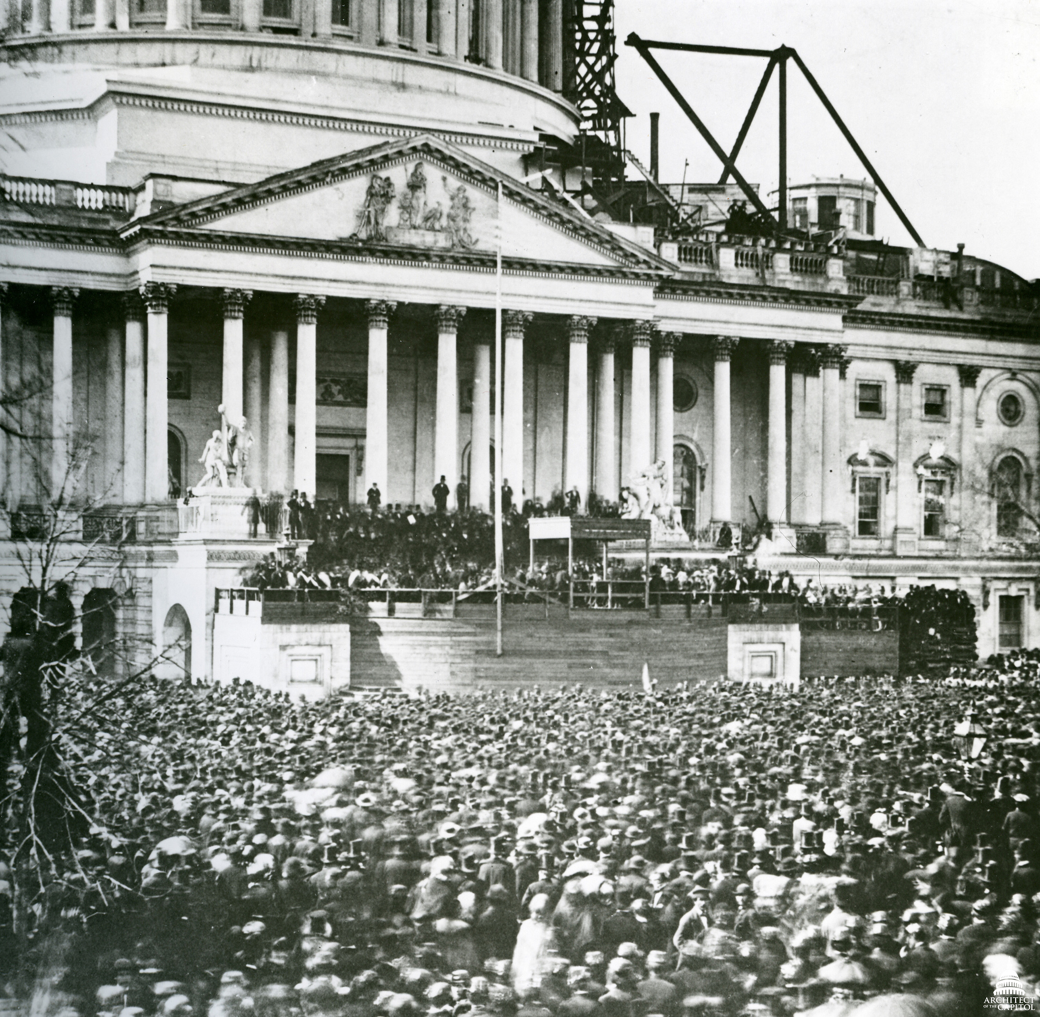 Lincoln's first inauguration. By USCapitol.