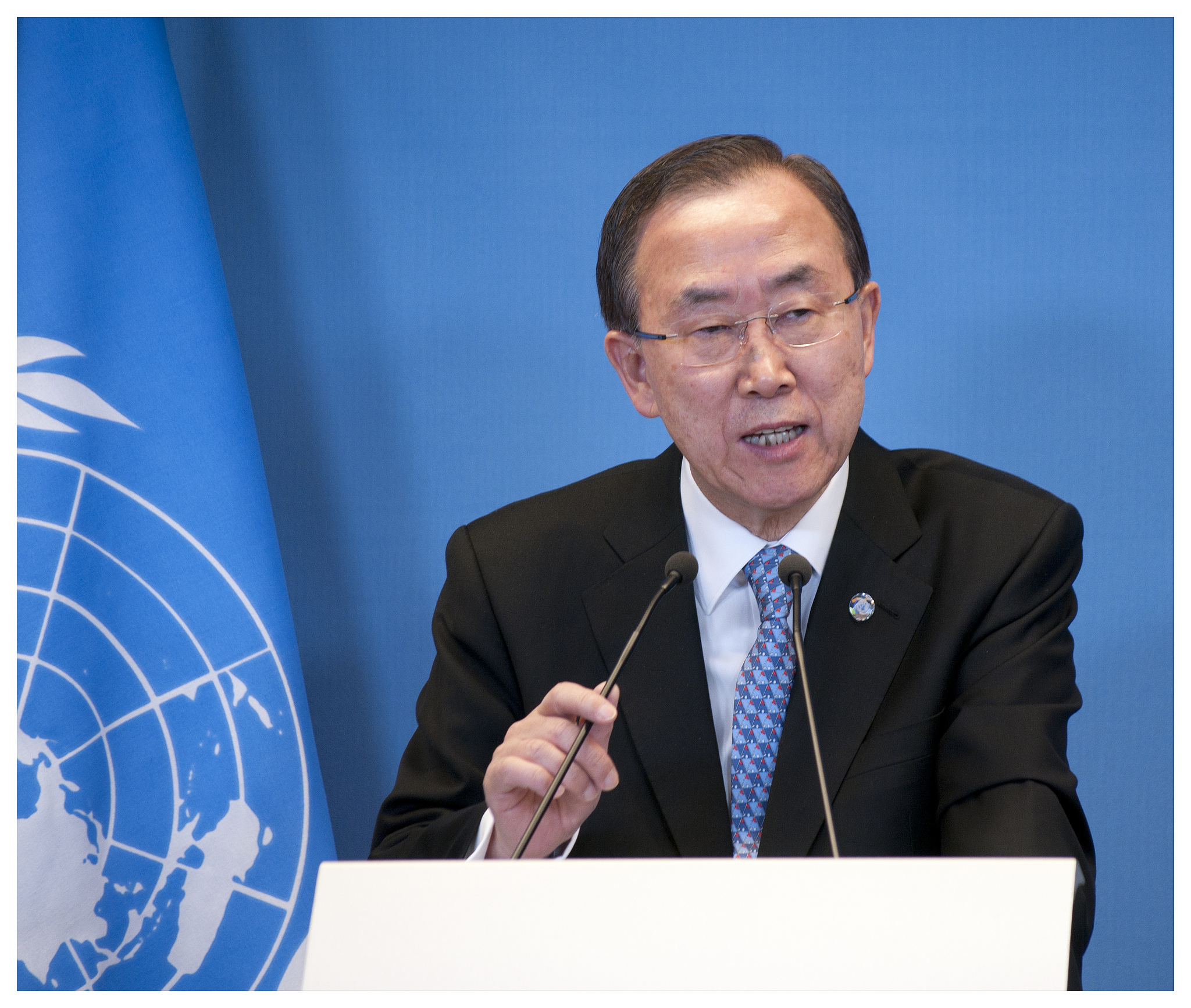 United Nations Secretary General Ban Ki-moon delivers a speech.By Ministerie van Buitenlandse Zaken.