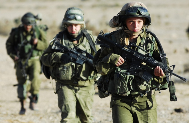 Israeli soldiers in training.  By the Israel Defense Forces.