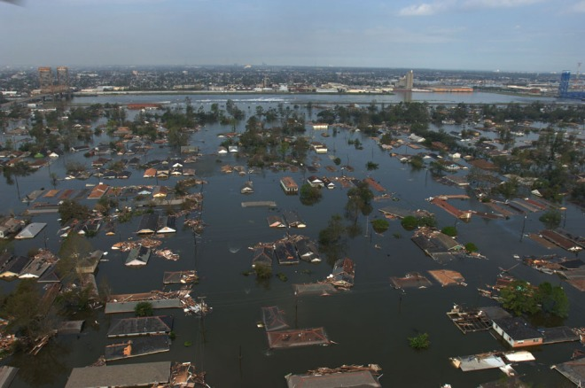 The aftermath of Hurricane Katrina in New Orleans. By Jocelyn Augustino and via Kelly Garbato.