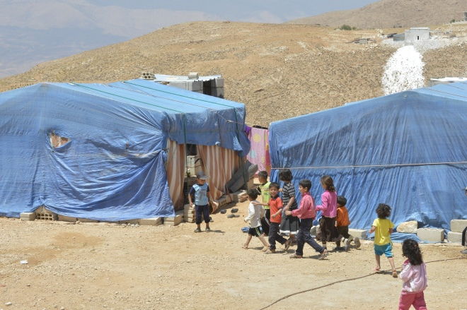 Syrian refugees in Lebanon. By ICRC.