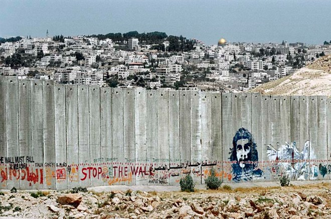 Palestinian graffiti. By Wall in Palestine.