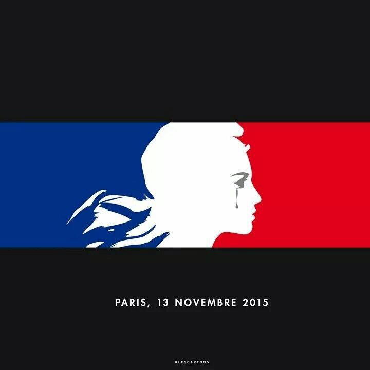 An expression of solidarity with Paris. By LesCartons.