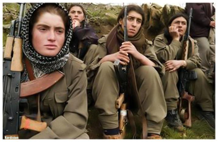 Peshmerga women. By Jan Sefti.