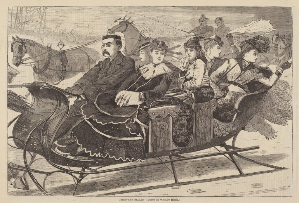 after Winslow Homer, Christmas Belles, , published 1869, wood engraving, Print Purchase Fund (Rosenwald Collection)