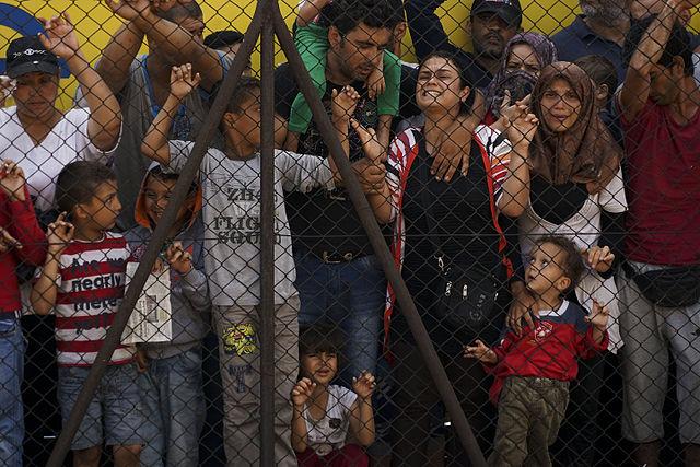 Syrian refugees at the platform of Budapest Keleti railway station, 4 September 2015. By Mstyslav Chernov.