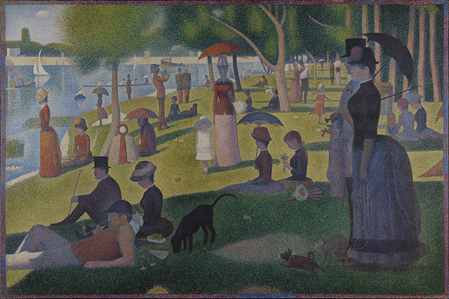 """A Sunday on Le Grande Jatte,"" Georges Suerat, 1884. Via Wikimedia."