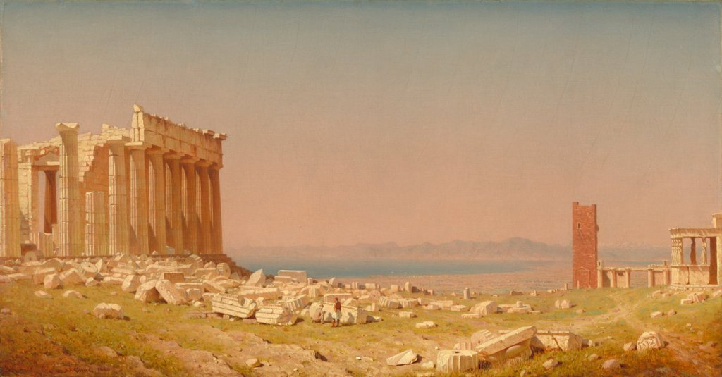 Sanford Robinson Gifford (American, 1823 - 1880 ), Ruins of the Parthenon, 1880, oil on canvas, Corcoran Collection (Museum Purchase, Gallery Fund; Frame restoration generously funded by the Women's Committee of the Corcoran Gallery of Art, 2009) 2014.79.20