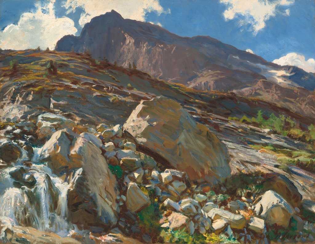 John Singer Sargent (American, 1856 - 1925 ), Simplon Pass, 1911, oil on canvas, Corcoran Collection (Bequest of James Parmelee) 2014.79.31