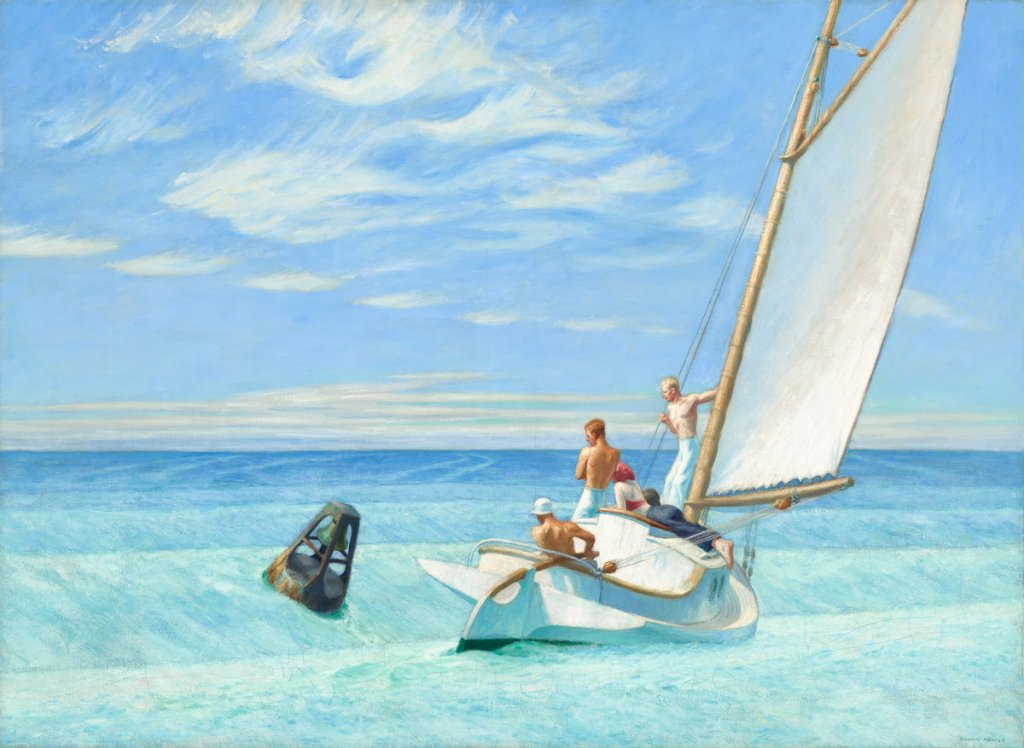 Edward Hopper (American, 1882 - 1967 ), Ground Swell, 1939, oil on canvas, Corcoran Collection (Museum Purchase, William A. Clark Fund) 2014.79.23
