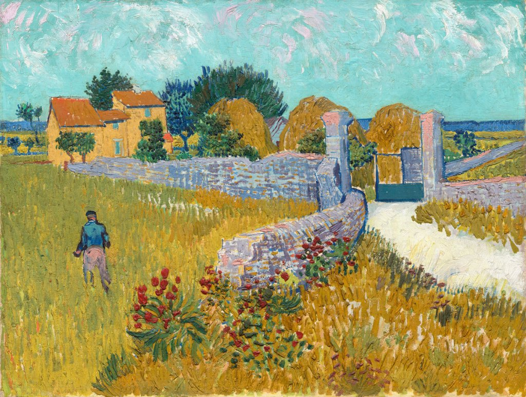 Vincent van Gogh (Dutch, 1853 - 1890 ), Farmhouse in Provence, 1888, oil on canvas, Ailsa Mellon Bruce Collection 1970.17.34