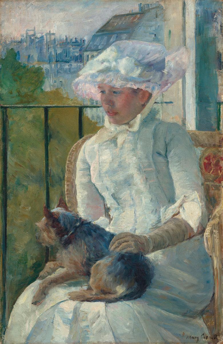 "Mary Stevenson Cassatt, ""Young Girl at a Window,"" c. 1883-1884,"